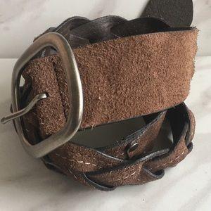 Genuine Leather Braided Belt